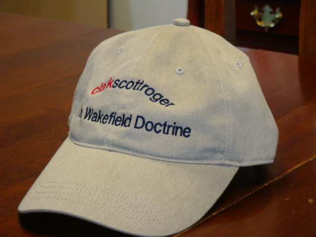 Fashion is the reason for this Wakefield Doctrine golf cap.